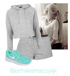 """SURPRISE SHOUTOUT"" by hanakdudley ❤ liked on Polyvore featuring Topshop and NIKE"