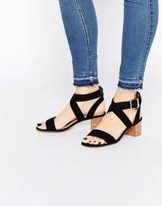 ASOS TEA TIME Kitten heel Sandals
