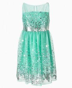 Ruby Rox Kids Dress, Girls Sequin Illusion Dress flower girls and ring bearers | Big Fashion Show kids dresses