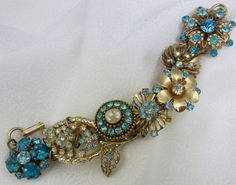May June Wedding Artisan Bracelet Dreamy Turquoise by WillowBloom, $118.00