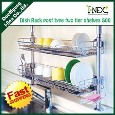 over the sink wall dish drainer!!...Something like this, under cabinet/coffee cups, but cups/pots pans can drain over sink.  Shelf.