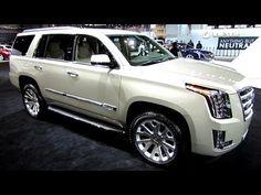 ▶ 2015 Cadillac Escalade - Exterior and Interior Walkaround - 2014 Chicago Auto Show - YouTube