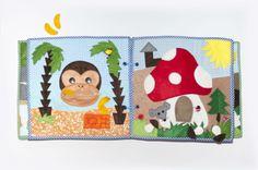Quiet book opice a muchomůrka