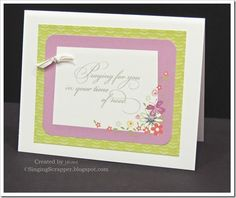 CTMH Penelope paper PML card and Take Heart stamp set
