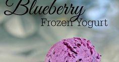 Creamy Blueberry Frozen yogurt made with frozen blueberries and Greek yogurt for a lighter alternative to ice cream