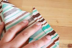 How to easily match stripes when piecing your binding for an almost invisible join! Tutorial by Make It Handmade.