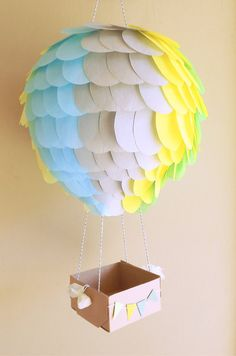 Hot air balloon 10 inch lantern that can be used for nursery decor or parties. Use them to add great detail to your special occasion. Use the box