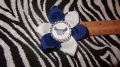 Sporty Bottlecap Flower Rice University Owls Hair Bow ~ Free Shipping Price: $4.00