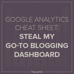 Learn how to read your blog stats.