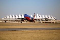 A @Southwest Airlines plane departs Denver International Airport.