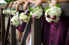 Eggplant white wedding