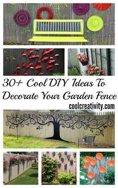 30+ Cool DIY Ideas To Decorate Your Garden Fence