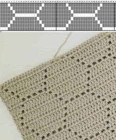 Filet Crochet Blankets Are Pretty Use this filet crochet pattern to create a beautiful honeycomb blanket. This easy crochet pattern works up quickly and yields gorgeous results. Crochet Stitches Chart, Crochet Diagram, Crochet Blanket Patterns, Crochet Motif, Stitch Patterns, Knitting Patterns, Knit Crochet, Filet Crochet Charts, Crochet Baby