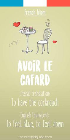 French idiom-avoir le cafard