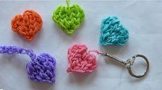 Comment fabriquer un cœur porte-clef rainbow loom!