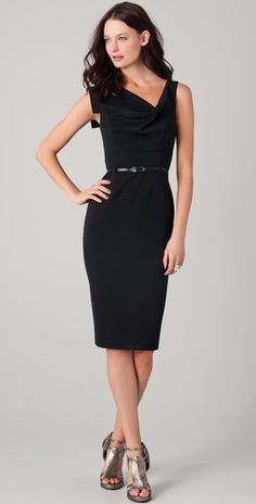 Beautiful neckline // because I clearly need *another* black dress.