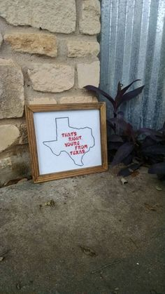 Check out this item in my Etsy shop https://www.etsy.com/listing/234907619/youre-from-texas-finished-cross-stitch