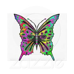 Psychedelic Butterfly Wrapped Canvas Canvas Print