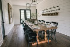 Fixer Upper Dining room. Oh how funny, this very show is on my tv right now! :)