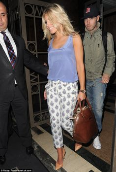 New romance: The couple were spotted arriving at London's Westbury Hotel after Mollie attended the Glamour Women Of The Year Awards with her bandmates earlier in the evening