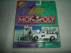 Johnny Lightning - Monopoly - Reading Railroad - Ford Truck (White) Replica w/Exclusive Bonus Miniature Metal Game Token by Playing Mantis, Inc.. $14.99. White Body Color w/Monopoly text and graphics on side and top - Chrome Color Base and Front Bumper - Gold Color Bed Rails. Includes Exclusive Bonus Miniature Metal Game Token (Similar to Pewter color) - China Made. Johnny Lightning - Monopoly - Reading Railroad - Ford Truck Replica w/Exclusive Bonus Miniature Meta...