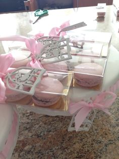 Macaroons party favour -Garden theme Bridal Shower