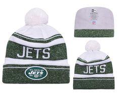 a0ca884035e Men s   Women s New York Jets New Era 2016 NFL Snow Dayz Knit Pom Pom  Beanie Hat - White   Green