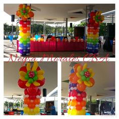 Colourful colors with Quicklinks balloons and distortion flowers ♡Lovely♡