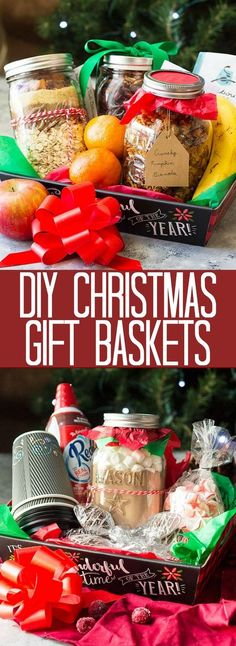 These DIY Christmas Gift Baskets are the perfect gift for all your foodie friends and family or those that have everything already.