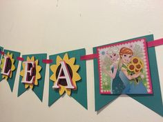 Frozen fever name banner by Fancymycupcake on Etsy