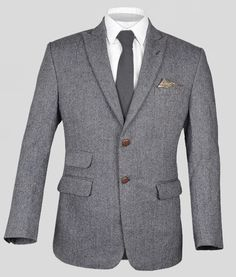 Vintage Herringbone Blue Tweed Jacket : Custom Suits,  | Shirts | Sport | Coats | Tailor