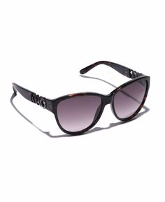 Marc by Marc Jacobs Large Cat Eye Frame Sunglasses with Chain Link Arms