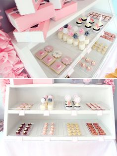 Ballerina Bakery Party - On to Baby Bakery Decor, Bakery Design, Bakery Ideas, Party Sweets, Candy Party, Cute Bakery, Burger Party, Quinceanera Cakes, Ballerina Birthday Parties