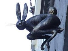 Restaurant Fast Rabbit sign, Haapsalu, Estonia
