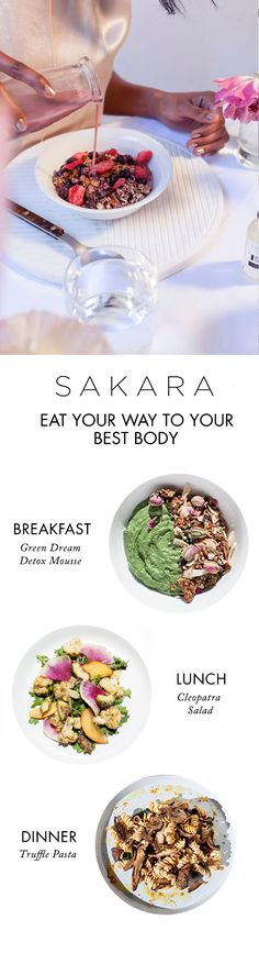 Eating clean never tasted so good. Sakara meals are delivered fresh, ready-to-eat and designed to give you clearer skin, more energy and a body you love.