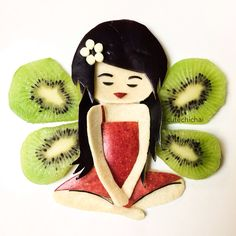 Food art. Kiwi fairy!