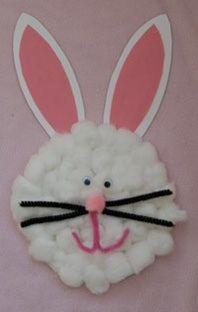 Este lindo conejo de Pascua fue hecho con un plato desechable de cartón, limpia pipas, ojitos movibles, papel construcción blanco y rosado. Qué tal, eh?