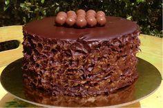 Ένα κέικ για gourmet ουρανίσκους. Greek Desserts, Party Desserts, Greek Recipes, Cake Cookies, Cupcake Cakes, Greek Cake, Greek Pastries, Cake Recipes, Dessert Recipes