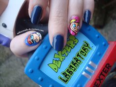 Dexter's Laboratory Nails, another one of my all time favorite cartoons(: