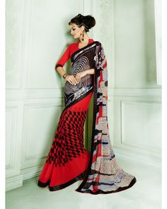 Stutti Fashion Exclusive Red Color Saree At Rs.1099
