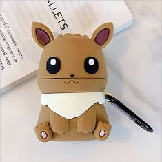 Eevee Pocket Monsters Cartoon cute soft silicone case Airpods Case Earphones Headphone Stand Phone Cases Cover Clear Apple Airpod Pro Airpod Pro, Monsters, Phone Cases, Apple, Cartoon, Pocket, Cover, Apple Fruit, Cartoons