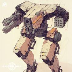 -- Share via Artstation iOS App, Artstation © 2017 Drones, Character Art, Character Design, Samurai Artwork, Arte Cyberpunk, Surface Art, Cyberpunk Character, Robot Design, Game Design