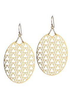 Kris Nations El Rey Earrings in Gold