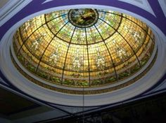 Elks Lodge, Alameda, Ca.   Stained Glass Dome in main ballroom.