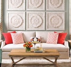 Put the spring back into your home #accessorize #colored pillows http://jacarandaliving.com/blog/7-tips-to-put-the-spring-into-your-home/