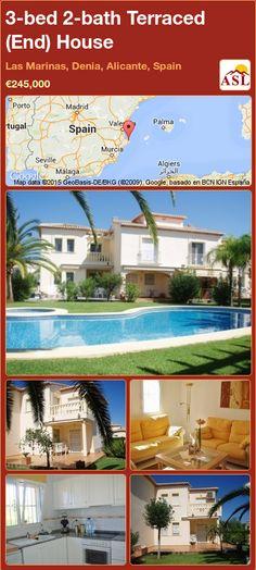 3-bed 2-bath Terraced (End) House in Las Marinas, Denia, Alicante, Spain ►€245,000 #PropertyForSaleInSpain