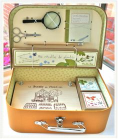 another version of craft ready suitcase could use as a fairy catching kit for kids!!!