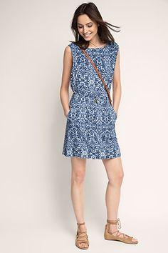 EDC / Wzorzysta lejąca sukienka