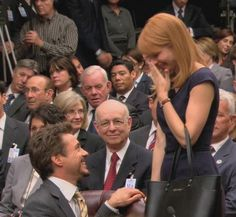 """This looks like Tony is proposing to Pepper. (Between scenes, filming """"Iron Man 2"""")"""