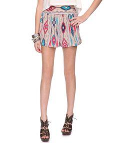 ikat print shorts. $14.80